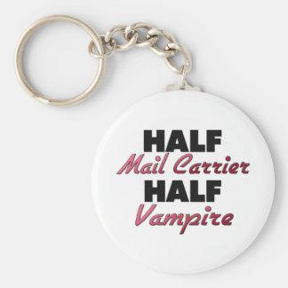 Half Mail Carrier Half Vampire Basic Round Button Key Ring