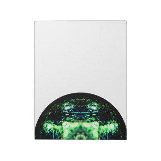 Half-Mandala Marble Notepad