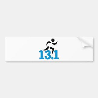 Half marathon 13.1 miles bumper stickers
