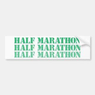half marathon bumper sticker