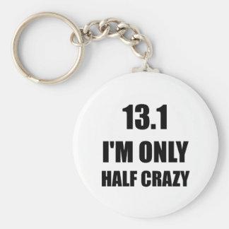 Half Marathon Crazy Basic Round Button Key Ring