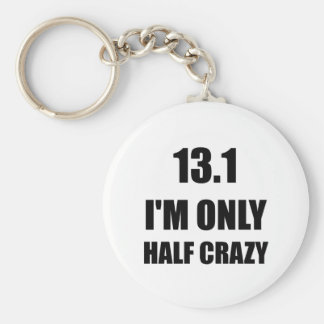 Half Marathon Crazy Key Ring