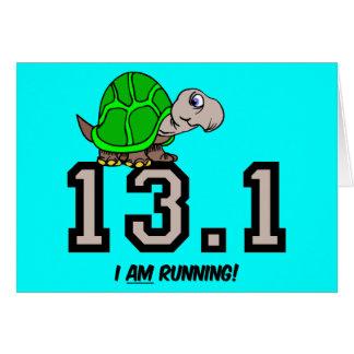 Half marathon greeting card
