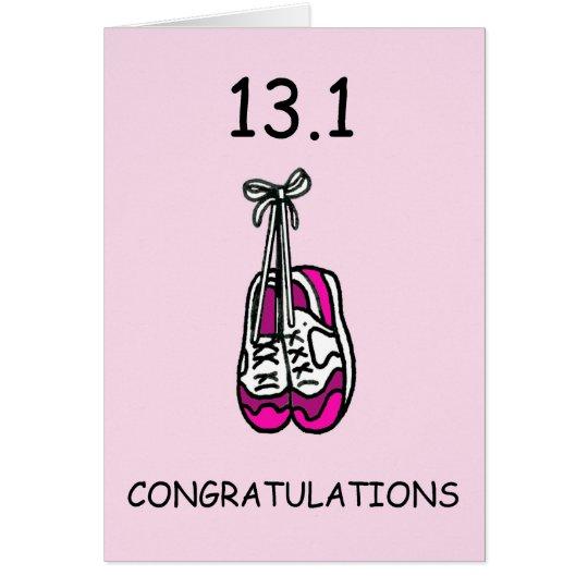 Half marathon lady, congratulations. card