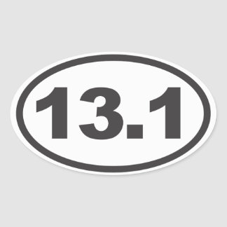 Half Marathon Oval Decal Oval Sticker
