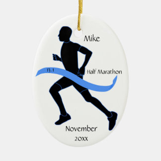 Half Marathon Runner Ornament - Man