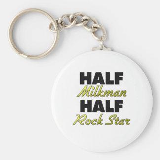 Half Milkman Half Rock Star Keychains