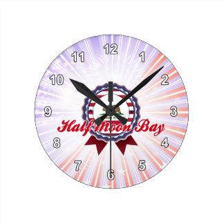 Half Moon Bay CA Round Clocks
