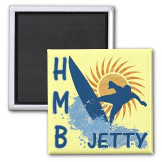 Half Moon Bay Jetty Refrigerator Magnet
