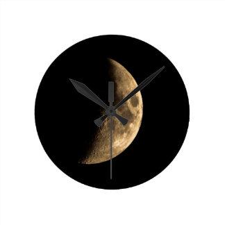 Half Moon Round Wall Clocks