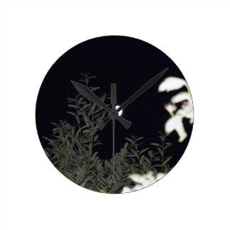 Half Moon Round Clock