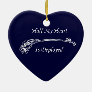 Half My Heart is Deployed Christmas Ornament