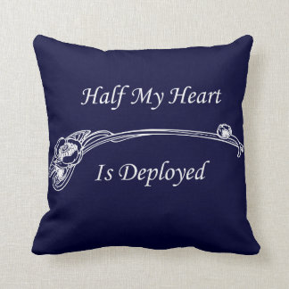 Half My Heart is Deployed Cushion