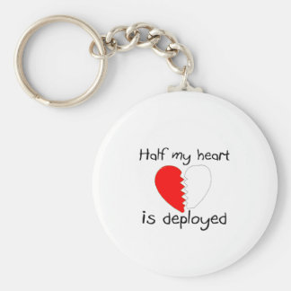 Half My Heart Is Deployed Key Ring