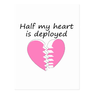 Half My Heart Is Deployed (Pink) Postcard