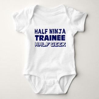 Half Ninja Trainee Half Geek Baby Bodysuit