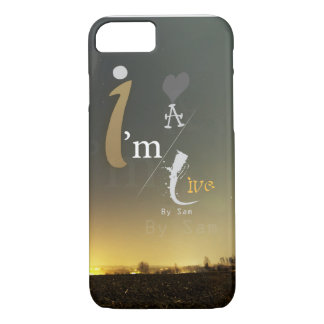 half of golden Designer for someone's a live ! iPhone 7 Case