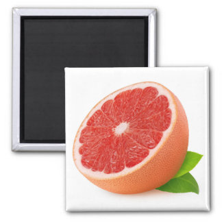 Half of grapefruit square magnet