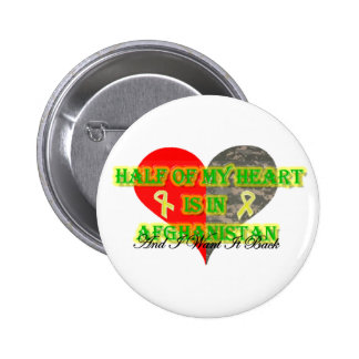 Half Of My Heart Is In Afghanistan 6 Cm Round Badge