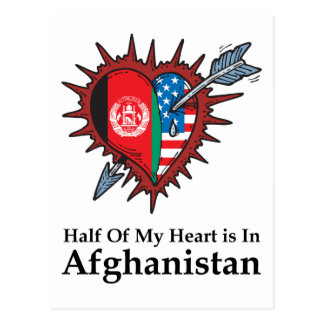 Half Of My Heart Is In Afghanistan Postcard