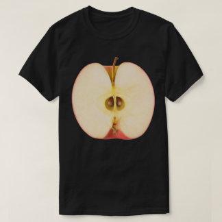 Half of red apple tshirt