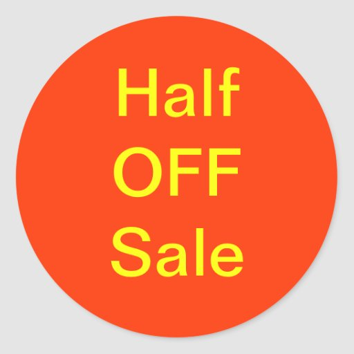 Half Off Sale Stickers