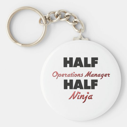 Half Operations Manager Half Ninja Basic Round Button Key Ring
