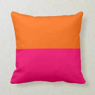 Half Orange and Bright Pink Cushion