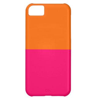 Half Orange and Bright Pink iPhone 5C Case