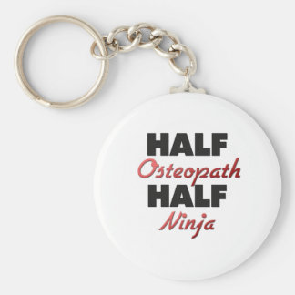 Half Osteopath Half Ninja Key Ring