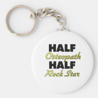 Half Osteopath Half Rock Star Key Ring