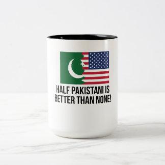Half Pakistani Is Better Than None Two-Tone Coffee Mug