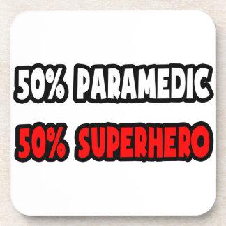 Half Paramedic Half Superhero Beverage Coasters