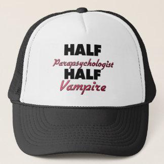 Half Parapsychologist Half Vampire Trucker Hat