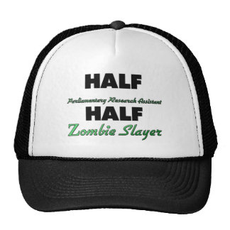 Half Parliamentary Research Assistant Half Zombie Mesh Hat