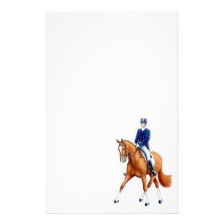 Half Pass Dressage Horse Stationery