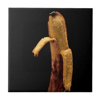Half Peeled Banana Still Life Tile