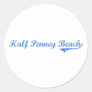 Half Penney Beach Virgin Islands Classic Design Sticker