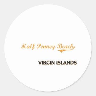 Half Penney Beach Virgin Islands Classic Stickers