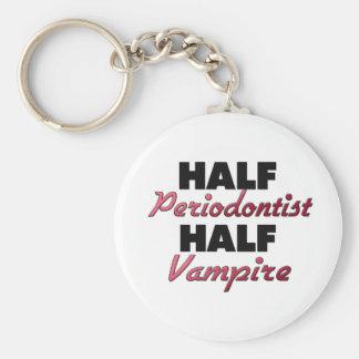 Half Periodontist Half Vampire Basic Round Button Key Ring