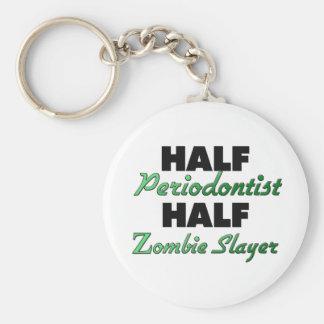 Half Periodontist Half Zombie Slayer Basic Round Button Key Ring