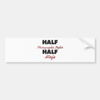 Half Photographic Stylist Half Ninja Bumper Sticker