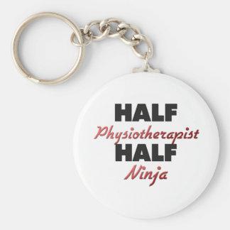 Half Physiotherapist Half Ninja Basic Round Button Key Ring