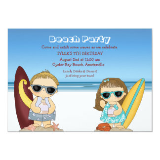 Half-Pint Surfers Invitation