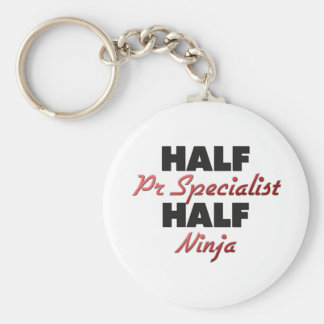 Half Pr Specialist Half Ninja Basic Round Button Key Ring