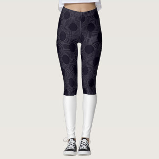 Half print/ half white leggins leggings