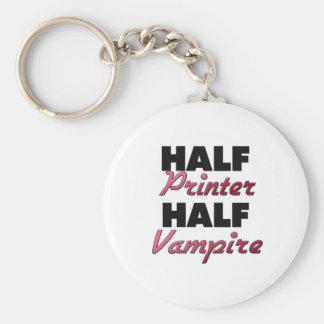 Half Printer Half Vampire Keychains