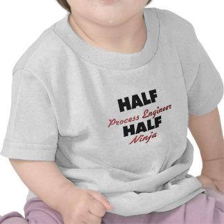 Half Process Engineer Half Ninja T Shirts