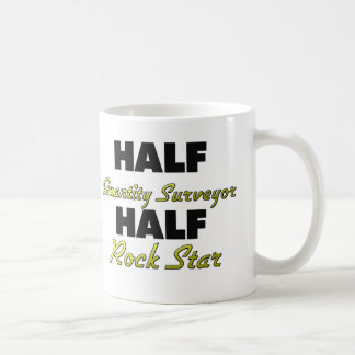 Half Quantity Surveyor Half Rock Star Mugs