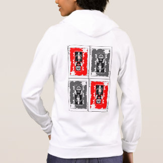 Half Queen, Half Joker (Red, White, and Black) Hoodie